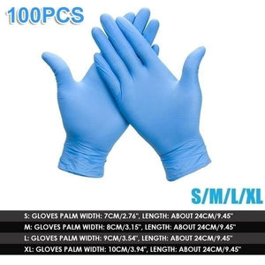 1000/500/300/100Pcs Industrial Gloves Kitchen Alkali Tattoo Nail Art Beauty Salon Industrial Auto Repair Gloves Disposable Nitrile Gloves Size S/M/L/XL