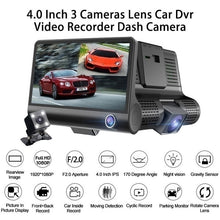 Load image into Gallery viewer, Super ERA Car DVR 2/3 Camera Lens 4.0 Inch Sprint Camera Dual Lens and Night Vision Video Recorder with Reversing 1080p Image