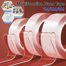 Load image into Gallery viewer, Transparent Magic Nano Tape Washable Reusable Double-Sided Tape Adhesive Nano-No Trace Paste Removable Glue Cleanable Household