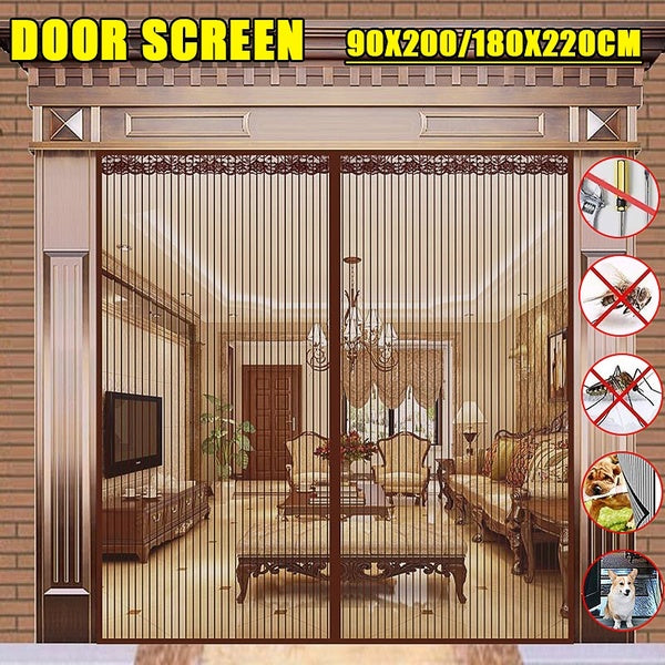2 Size Summer Magnetic Door Screen Netting Curtains Mesh Anti Mosquito Insect