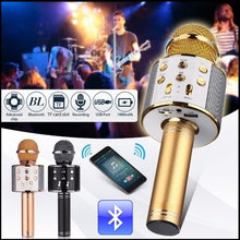 Load image into Gallery viewer, Wireless Bluetooth Handheld Microphone KTV Karaoke Microphone with Speaker For IOS Android Phone Computer Karaoke