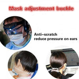 50/100PCS Adjustable Mask Aid To Prevent Ear Pain Mask Hook Ear Wear Type Adjustment Buckle Ear Rope Extension Buckle