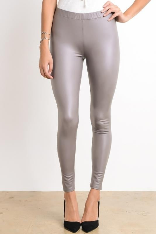 Wishlist Full Length Vegan Faux Leather Fitted Leggings