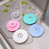 5/3/1PCS Kitchen sink floor drain silicone flying saucer press type double-layer insect-proof and odor-resistant bouncing floor drain