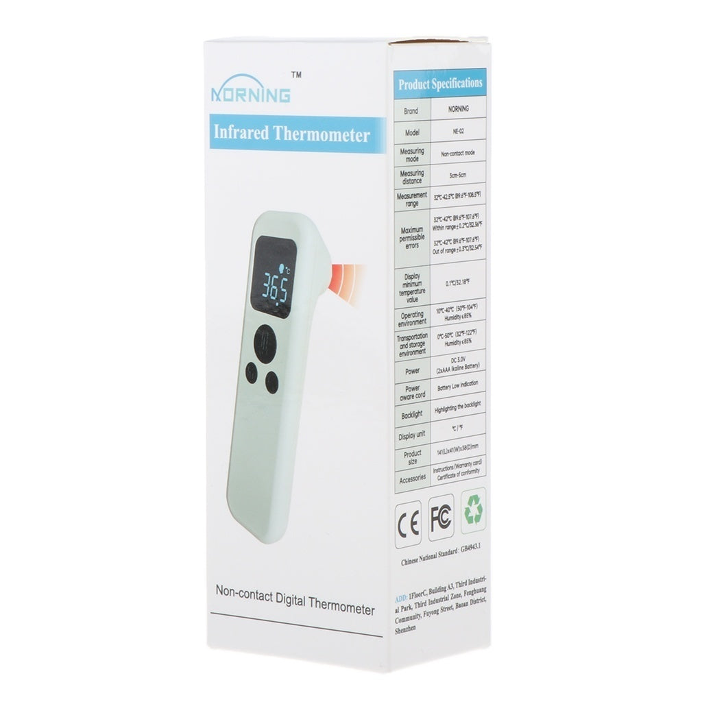 Easy Operation Household Thermometer Non-contact Type Multi-function Infrared Thermometer High-precision Forehead Thermometer for Baby Adult Heat Fever Alarm Temperature