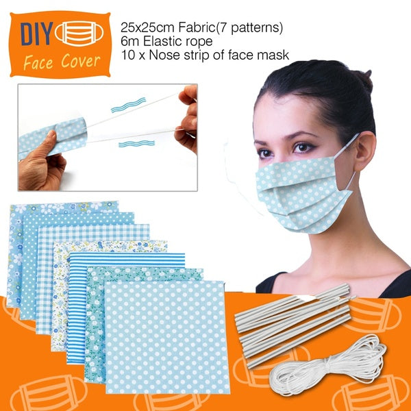 Sewing Accessories DIY Face Mask Set Needlework Cotton Fabric For Patchwork Printed Cloth Sewing Fabrics