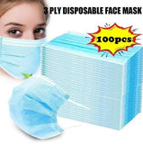 50/100 PCS 3-Layer Disposable mask Mask Anti-fog and PM2.5 Disposable Mask Hanging Ear Mask with meltblown