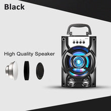 Load image into Gallery viewer, 3D Surround Sound Portable bluetooth PA Speaker, LED Light Subwoofer Loudspeaker System, With/Without Wireless Microphones, Support Hands-free/USB/TF Card/AUX/FM