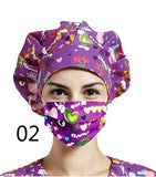 New Multiple Styles Surgical Cap Surgical Cap and Reusable Mask Set Advanced Medical Belt Suitable for Nursess Doctors  Women and Men