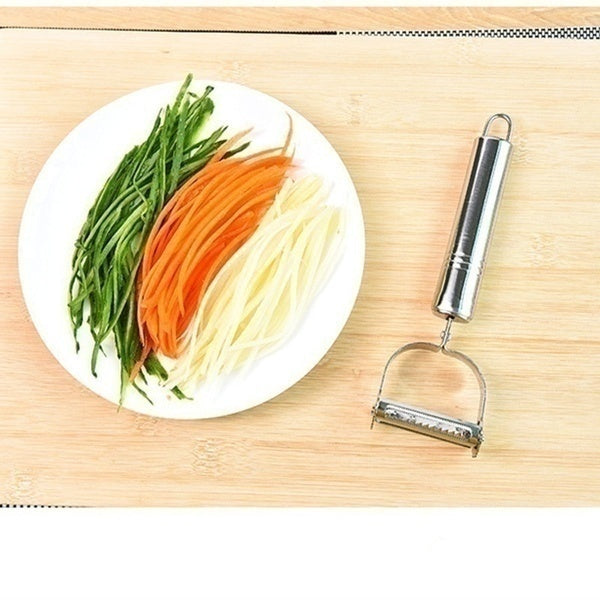 1PC/2PCS High Quality Stainless Steel Potato Cucumber Carrot Grater Julienne Peeler Vegetables Fruit Peeler Double Planing Grater Kitchen Gadget