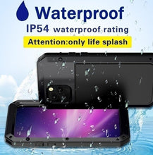 Load image into Gallery viewer, For iphone 11 Pro Max Heavy Duty Life Waterproof Metal Case For iPhone SE 2020 XR XS X Max 8 7 6S 6 Plus Samsung galaxy Note 10 9 8 Plus S10 S10E S9 S8 Plus Huawei P30 Pro P30 Cover Shockproof Dustproof Protection Funda