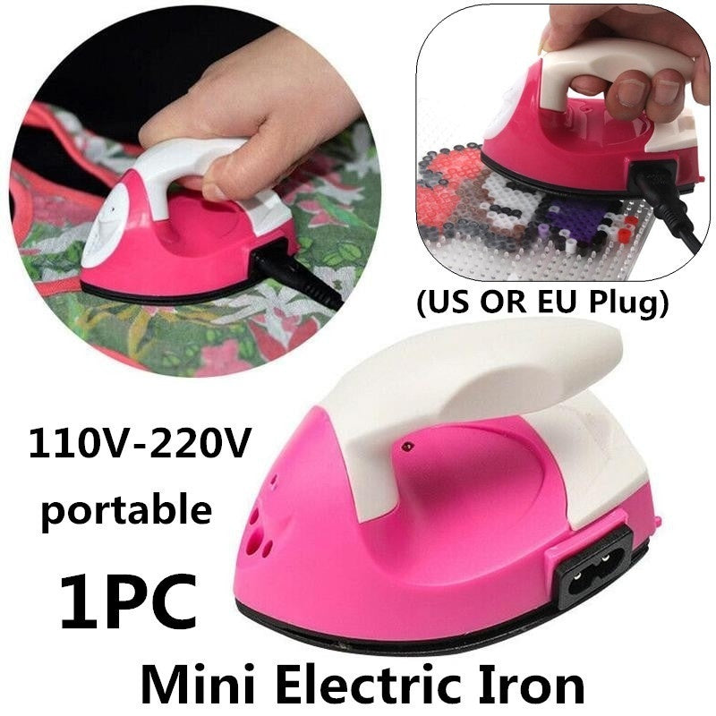 Mini Electric Iron Portable Travel Crafting Craft Clothes Sewing Supplies(US/EU Plug)
