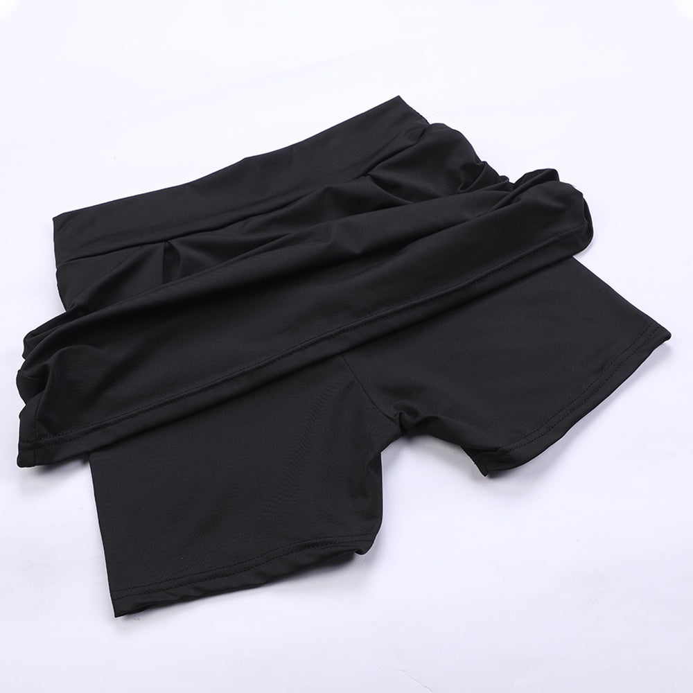 Women Fashion Double-Layer Sports Shorts Quick-Drying Yoga Fitness Mini Skirts With Skirt Underwear