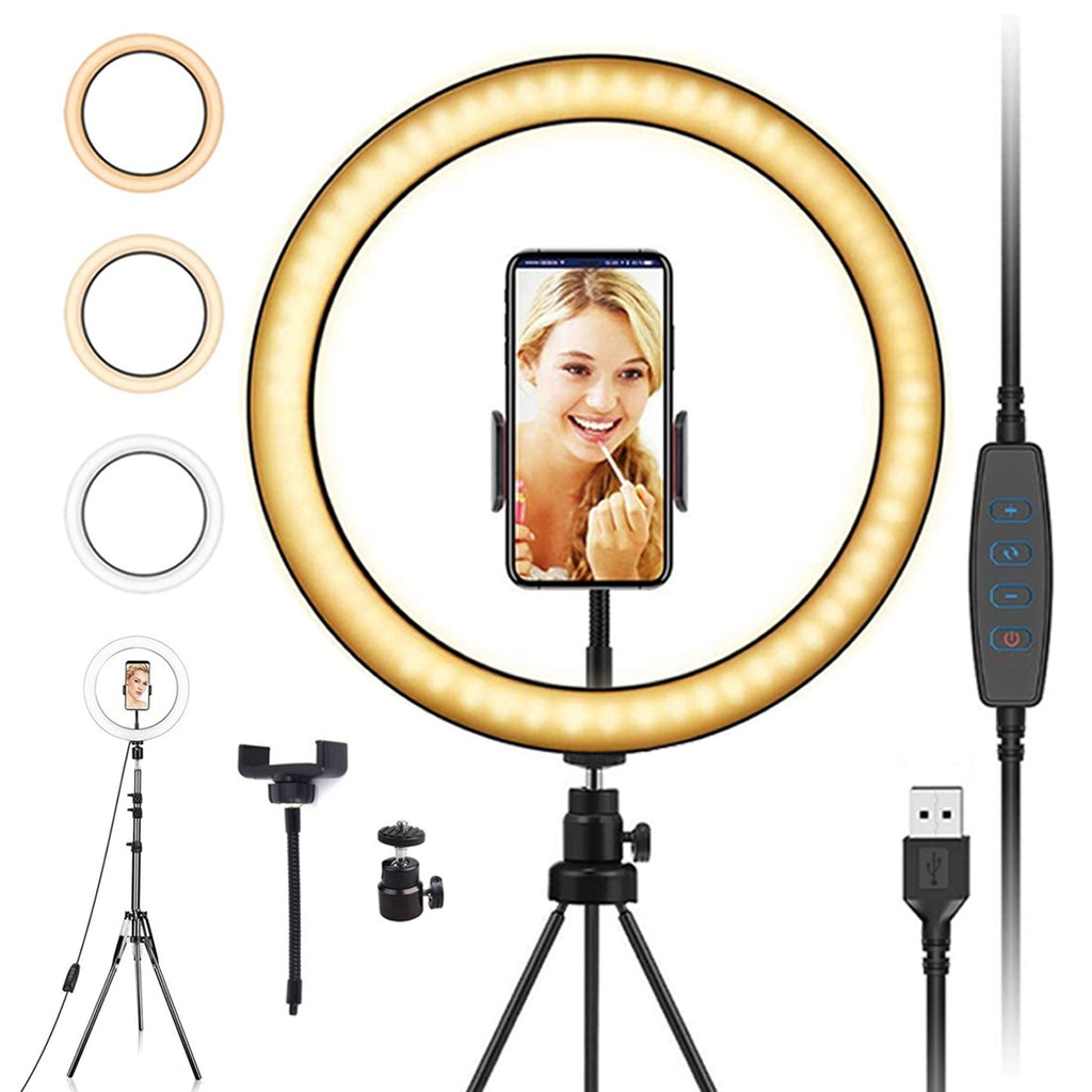 Photography Lighting LED Selfie Ring Light Ring Lamp For Makeup Video Live Studio LED Camera Selfie