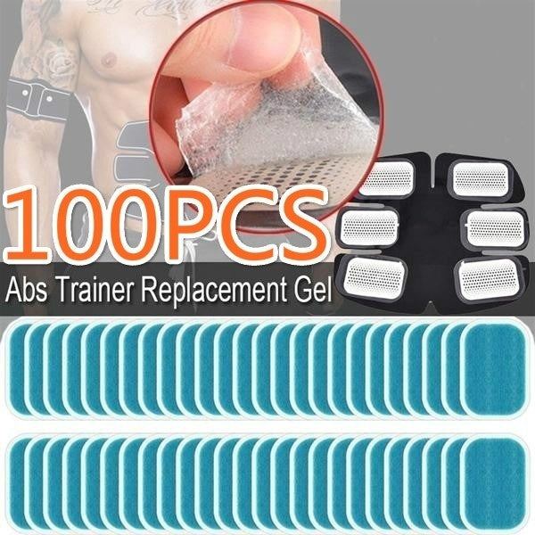6/12/20/30/40/50/100pcs Abs Trainer Replacement Gel Sheet Abdominal Toning Belt Muscle Toner Ab Trainer Gel Sheets for Gel Pad