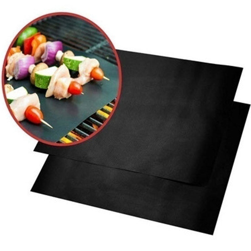 Hot sale 15.75x12.99 'family party non-stick Teflon grill liner oven grill foil grill liner reusable mat