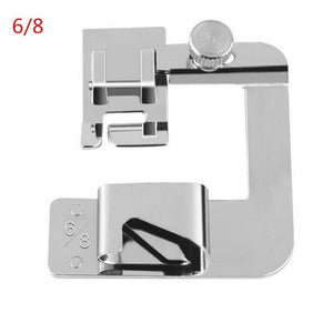 1 Piece of Household Multifunctional Sewing Machine Presser Foot Technology Stainless Steel Crimping Tool Practical Roll Foot Sewing Machine Accessories