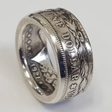 Fashion Men Antique Coin Ring Handmade American Morgan Silver Dollar Sterling Silver Rings for Men