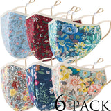 Fashion Floral Face Mask Cover Protection Face Masks Reusable Washable Unisex