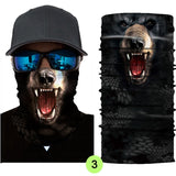 Multi-function Funny Animal 3D Skull Neck Face Mask UV Protective Biker Skiing Cycling Fishing Hiking Bandana Headband Balaclava Magic Scarf Mask