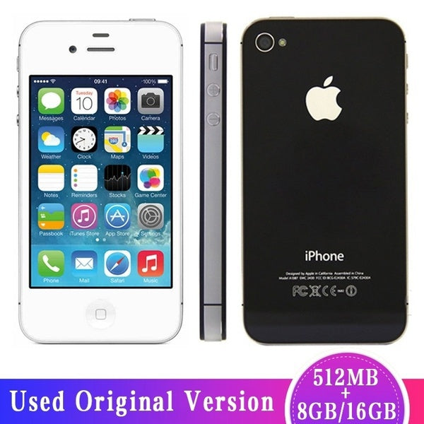 (Used)Original Apple IPhone 4s 3.5inch Screen 8GB/16GB Unlocked Mobile Phone IOS5.0 A5 Dual-core 8MP Camera WIFI GPS Used Phone(Almost New)