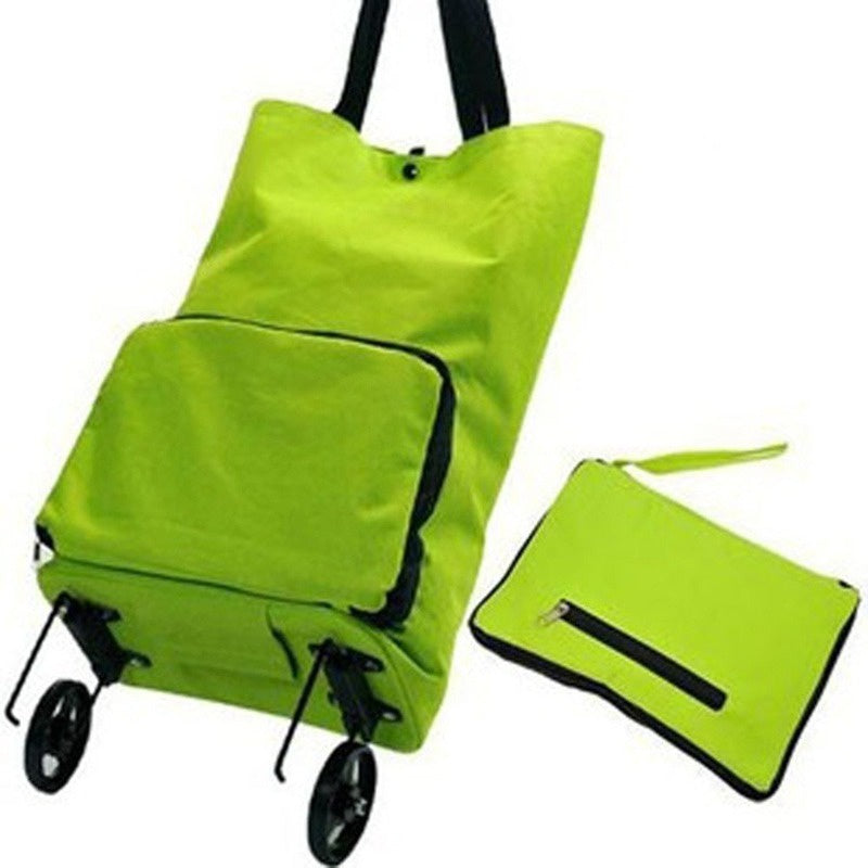 2Types Folding Wagon Garden Shopping Beach Cart or Shopping Trolley Bag