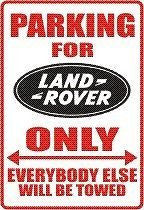 LAND ROVER Logo Parking Sign