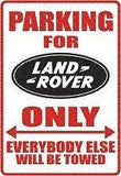 LAND ROVER Logo Parking Sign MAGNET