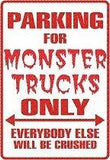 MONSTER TRUCK Personalized Parking Sign