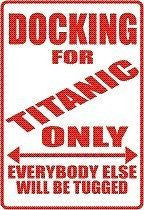 TITANIC CREW Parking Sign MAGNET