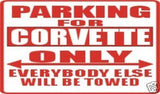 CORVETTE Parking Sign MAGNET
