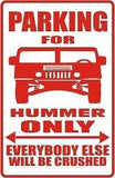 Jeep HUMMER Parking Sign MAGNET