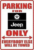 JEEP Logo Parking Sign MAGNET