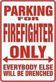 FIREFIGHTER Parking Sign MAGNET