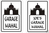 Garage Mahal Parking Sign