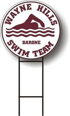 Personalized School SWIM TEAM LAWN SIGN