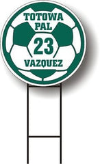 Personalized School SOCCER LAWN SIGN