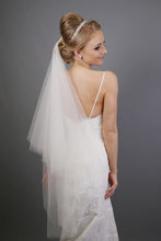 Load image into Gallery viewer, Bridal Apparel Faux Silk Italian Tulle Cut Edge Veil || CGACT301