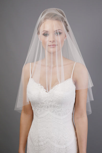 Bridal Apparel Faux Silk Italian Tulle Cut Edge Veil || CGACT301