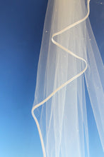 Load image into Gallery viewer, Bridal Apparel Crystal Scatter Ribbon Edge Veil || CGAR003