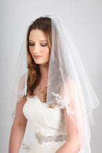 Load image into Gallery viewer, Bridal Apparel Lace Appliqué Veil with Pearl || CGC243C