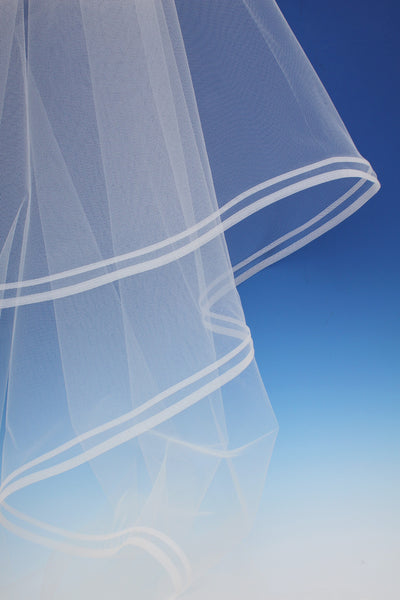 Bridal Apparel Double Horsehair Edge Veil || CGC433C