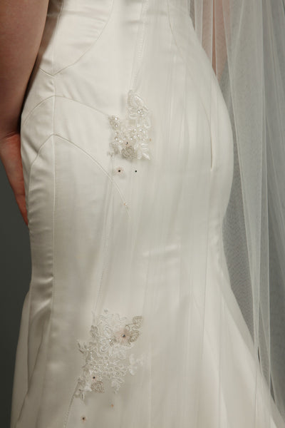 Bridal Apparel Floral Appliqué Veil || CGC521A