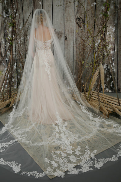 Bridal Apparel Statement Lace Veil || CGC568B
