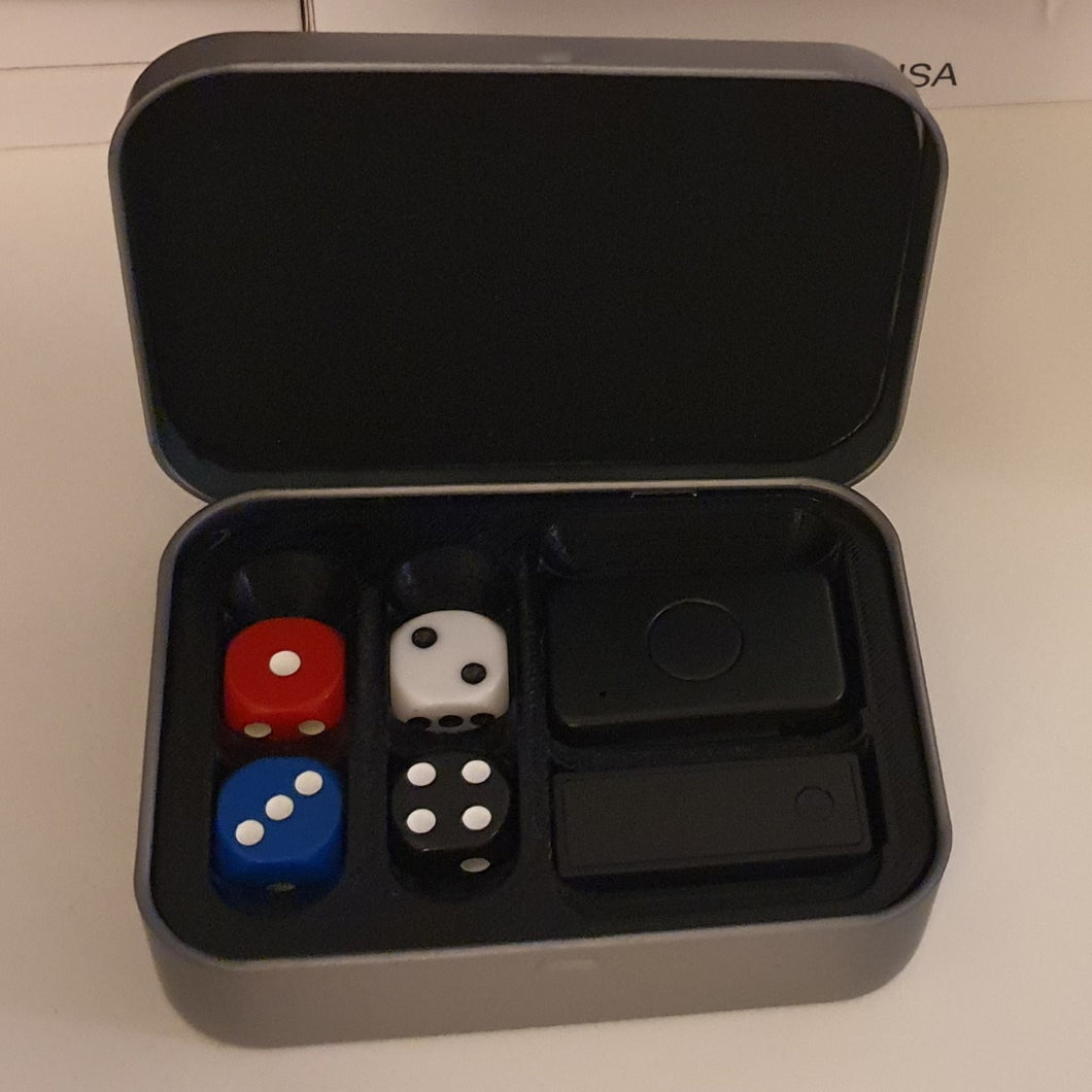 Mental Dice - Case for 4 dice and 2 receivers