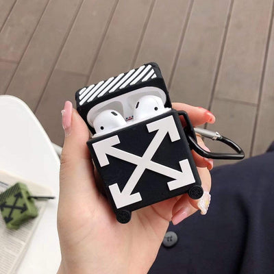 HypedEffect OFF-WHITE Suitcase Airpod Case