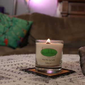 Cannabis smoke odor eliminator candle