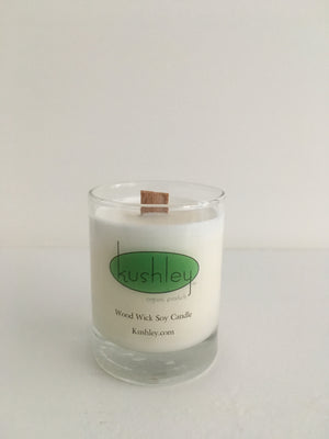 j) Mini Soy Candle, Cherry Wood Wick Candle, 10/15 hour