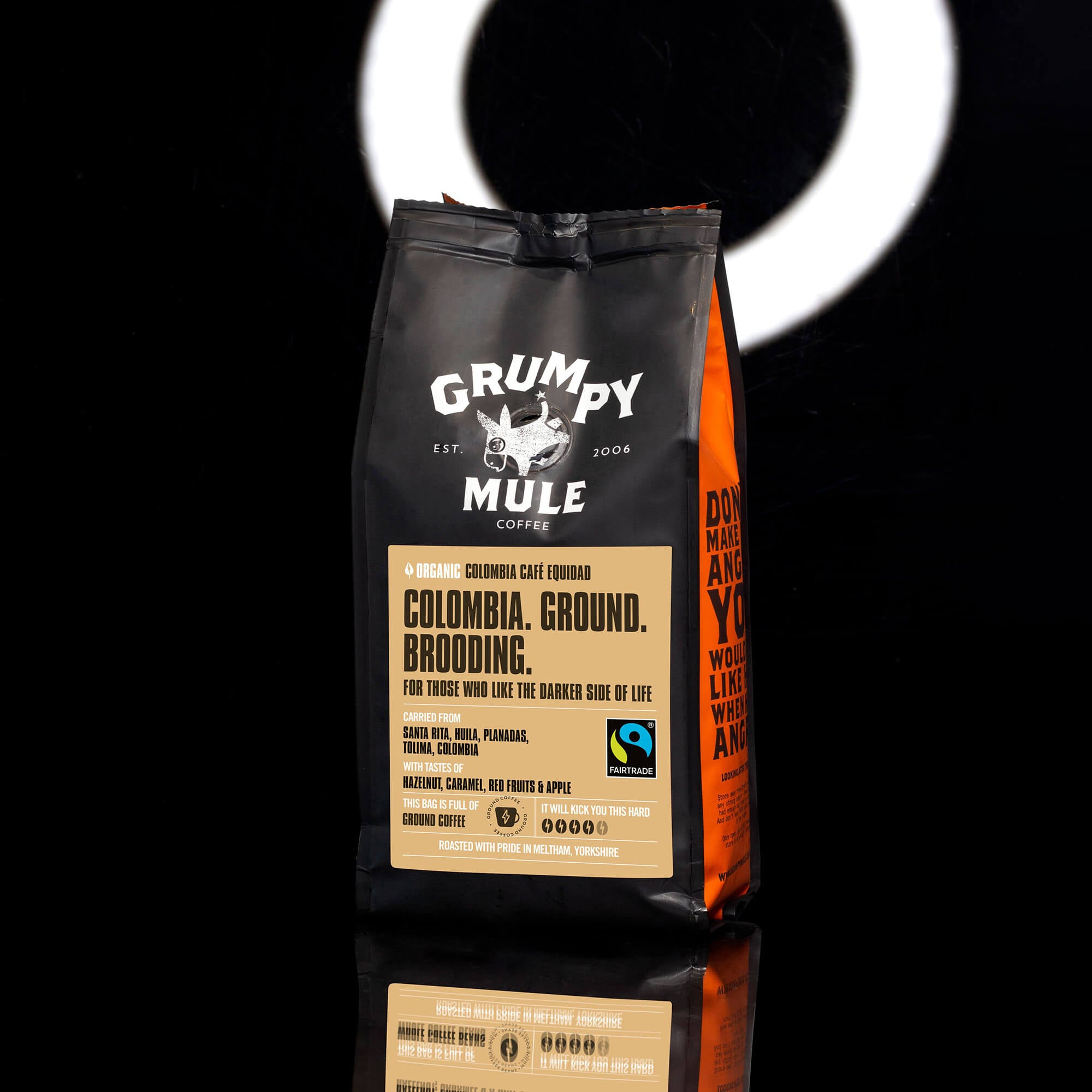 Organic Colombia Equidad Ground Coffee - Grumpy Mule