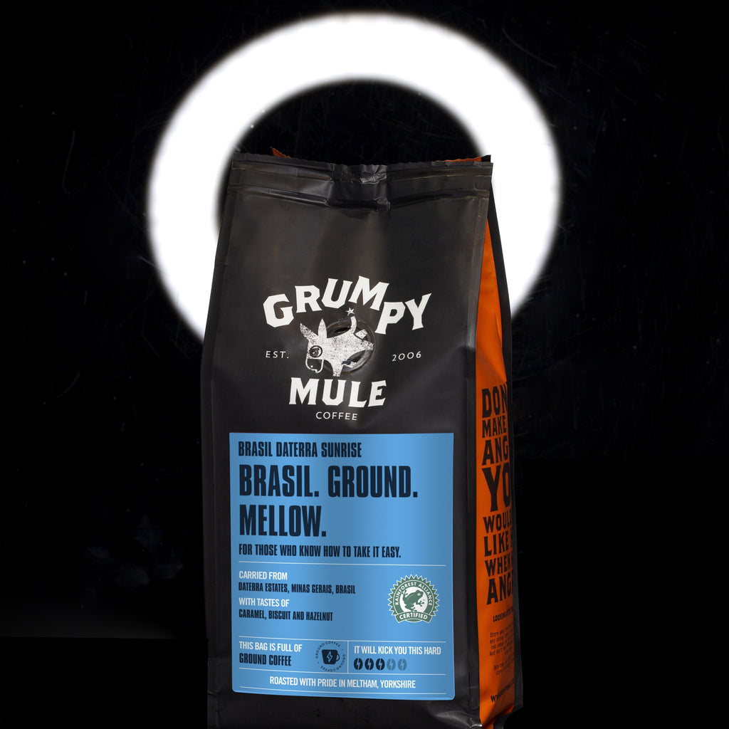Grumpy Mule Brasil Daterra Sunrise Ground Coffee